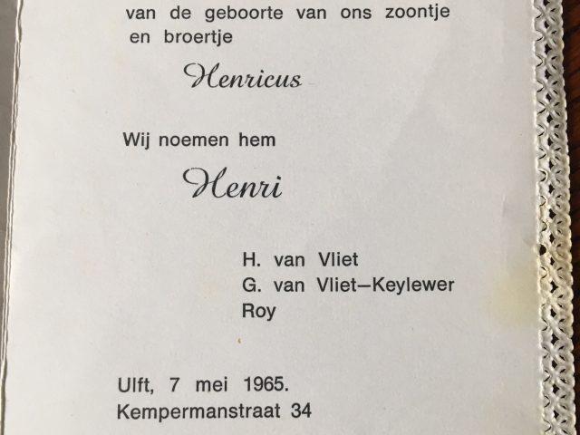 Henk van Vliet