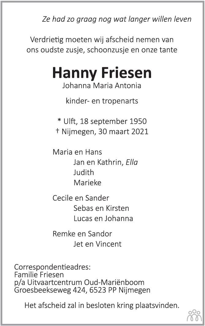 Hannie Friesen